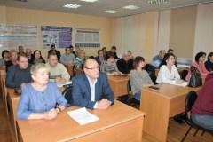 Эльвира Сусленкова и Сергей Гармс в аудитории УМЦ по ГО и ЧС