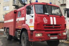 Пожарная автоцистерна ПЧ-20 Кольского филиала ГПС Мурманской области