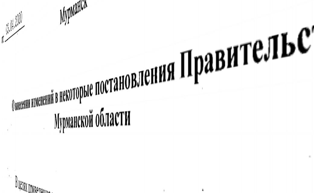 Изменения в постановлении Правительства Мурманской области от 30 мая 2005 года № 207-ПП