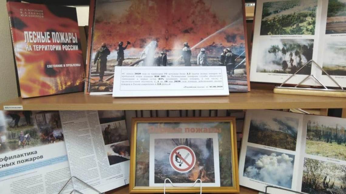 Выставка в УМЦ, посвящённая пожарной безопасности в пожароопасный сезон