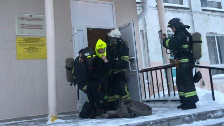 Практическая тренировка по эвакуации людей