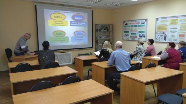 Занятие по курсовому обучению с работниками УМЦ по ГО и ЧС